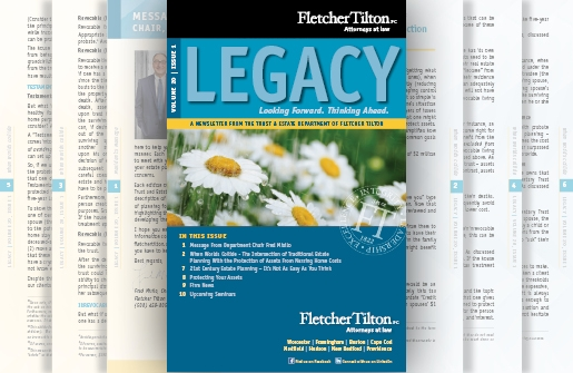 Legacy Newsletter - Volume 20 Issue 1