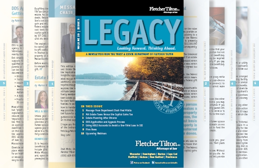 Legacy Newsletter - Volume 20 Issue 3